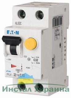 Eaton Дифференциальный автоматический выключатель PFL6-20/1N/C/0,03 (286468)