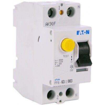 Eaton Дифференциальный выключатель напряжения PF6-63/2/0,03 (286500) цена