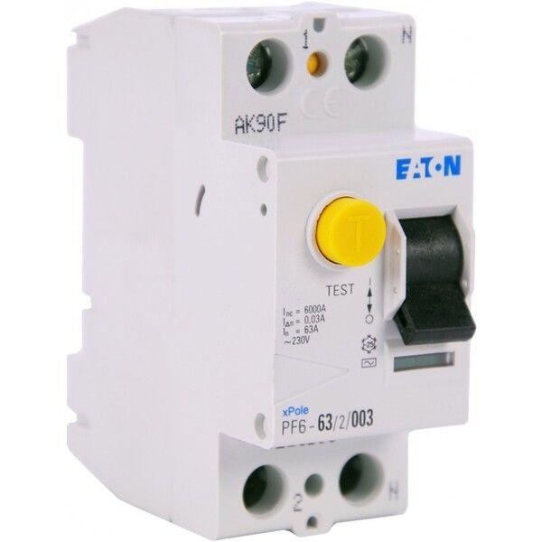 Eaton Дифференциальный выключатель напряжения PF6-63/2/0,03 (286500)