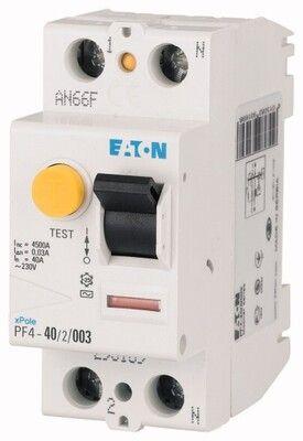 Eaton Дифференциальный выключатель напряжения PF4-40/2/0,03 (293169) цена