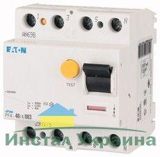 Eaton Дифференциальный выключатель напряжения PF6-40/4/0,3 (286510)