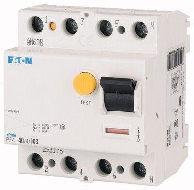 Eaton Дифференциальный выключатель напряжения PF6-40/4/0,3 (286510) цены