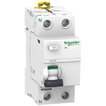 Schneider electric Дифференциальный выключатель напряжения iID K 2P 40A 30мА AC (A9R50240) цена
