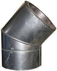 ОТВОД из нержавеющей стали (AISI 304) с термоизоляцией в нержавеющем кожухе 45 град; 0,5 мм ф125/185