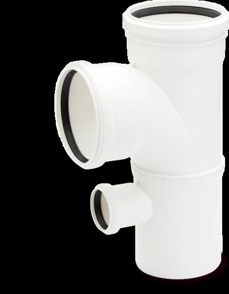 Rehau для внутр. канализации Двойной односторонний тройник RAUPIANO PLUS 110/110/50 87°