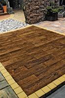 Тротуарная плитка Террасная доска Терраса коричневая 600х150