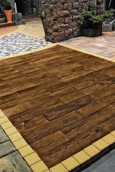 Тротуарная плитка Террасная доска Терраса ваниль 600х150