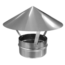 ОКОНЧАНИЯ (Зонт) из нержавеющей стали (AISI 304) с термоизоляцией в нержавеющем кожухе (AISI 304) ф300/360