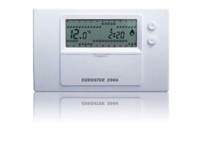 Euroster 2006 Недельный программатор 5-35°C, ЖК экран, датчик темп.воздуха, 2 темп.прогр., на батарейках цены