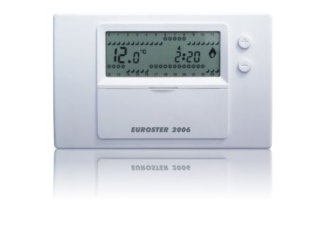 Euroster 2006 Недельный программатор 5-35°C, ЖК экран, датчик темп.воздуха, 2 темп.прогр., на батарейках