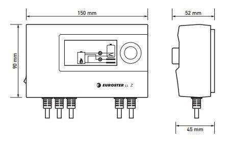 Euroster 11Z Термоконтр. управл.насосом ЦО или бака-акк.ГВС, система Антистоп, ЖК экран, 2 датчика темп.