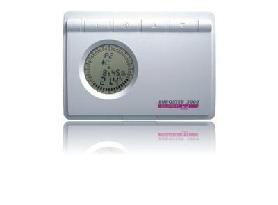 Euroster 3000 Недельный программатор 5-45°C, ЖК экран, датчик темп. воздуха, 6 темп. Программ, датчик температуры пола, на батарейках. цена