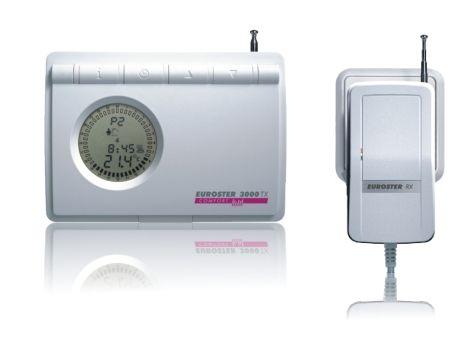 Euroster TXRX Беспроводной недельный программатор (беспроводная версия программатора 3006), радиоприемник RX, антена на корпусе, без датчика темп. пола