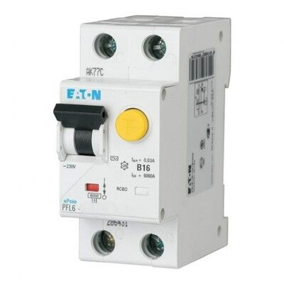 Eaton Дифференциальный автоматический выключатель PFL6-40/1N/C/0,03 (286471) цена