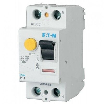 Eaton Дифференциальный выключатель напряжения PF4-63/2/0,03 (293171) цена
