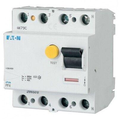 Eaton Дифференциальный выключатель напряжения PF4-40/4/0,03 (293175) цена
