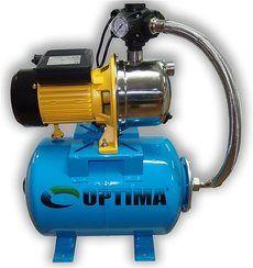 Насосная станция Optima JET 80S нерж, 0.8 кВт (бак 200 л)