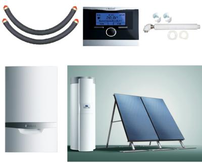 Пакет Vaillant ecoTEC plus VU INT 386/5+auroSTEP plus 2.250 HF+VRC470 (0020201534) цена