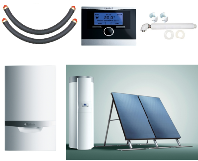 Пакет Vaillant ecoTEC plus VU INT 386/5+auroSTEP plus 2.250 HT+VRC470 (0020201533) цена
