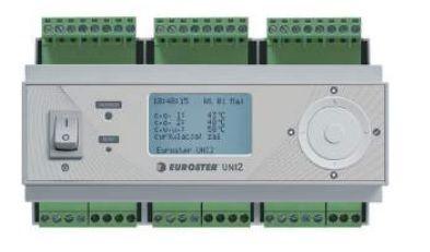 Euroster UNI 2 Погодозависим.термоконтроллер управл.контурами с радиаторами отопл., половым отоплением, смес.клапанами, контуром ГВС и доп.котлом, система Антистоп, 4 датчика темп.  цена