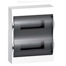 Schneider electric EZ9 Щит пластиковый навесной. Дымчатые двери 2 Ряд 24 Модулей+2КК (EZ9E212S2S)