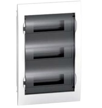 Schneider electric EZ9 Щит пластиковый встроеный. Дымчатые двери 3 Ряда 36 Модулей+2КК (EZ9E312S2F) цены