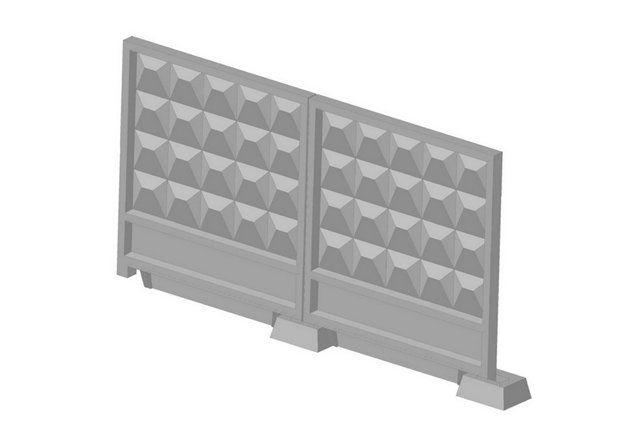 Забор железобетонный ЗП400-8