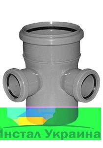 Interplast крестовина 110/50/50-90 проходная для внутренней канализации