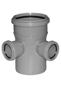 Interplast крестовина 110/110/110-45 для внутренней канализации цена