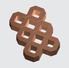 Тротуарная плитка Парковочная решетка (коричневый) (8 см)