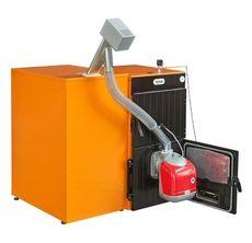 Твердотопливный пеллетный котел Ferroli SFL / 4 + горелка SUN P7 + бункер 350 л + дверца для перехода на (дрова/уголь)
