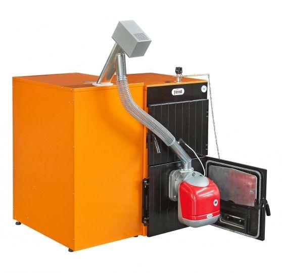 Пеллетный котел Ferroli SFL / 6 + горелка SUN P12 + бункер 195 л + дверца для перехода на (дрова/уголь)