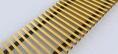 FanCOil решетка дюралевая золото для конвектора FCF 12 mini длина 3000мм