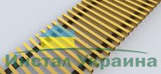 FanCOil решетка дюралевая золото для конвектора FCF 12 Plus +4 PREMIUM длина 3000мм