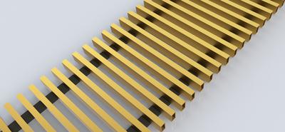 FanCOil решетка дюралевая золото для конвектора FCF 12 mini длина 1500мм цена