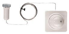 Термостатическая головка Herz Герц Дизайн D с дистанционным управлением М 28х15 2 метра труби