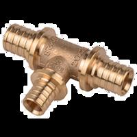 Heat-PEX Тройник редукционный с 2-мя зауженными проходами (материал - латунь) d25 x d20 x d20 мм (2013200)
