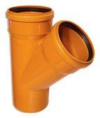 купить WAVIN EKOPLASTIK Тройник, класс N; 110/110х45 град. (3062422404) для наружной канализации