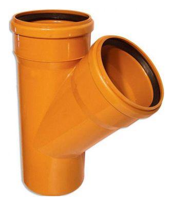 WAVIN Тройник, класс N; 400/400x45 град. (3046300245) для наружной канализации цена