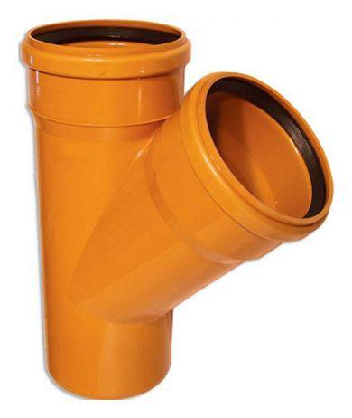 WAVIN EKOPLASTIK Тройник, класс N; 500/250x45 (3046305245) для наружной канализации