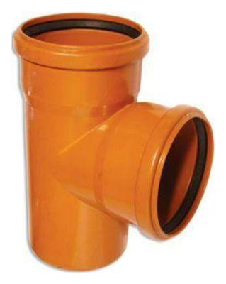 WAVIN EKOPLASTIK Тройник, класс N; 400/250x87 град. (3046305187) для наружной канализации цены