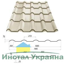 Металлочерепица Сталекс Afina 350/20 0,45 х 1185/1085 мм. Полиэстер Украина
