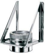 Кронштейн L=500 / б=2,0мм из нержавеющей стали (AISI 304) с термоизоляцией в оцинкованной стали (AISI 304) ф100/160