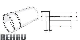Rehau для внутр. канализации Патрубок для металевого сифону RAUPIANO PLUS прямий 75/80 цена