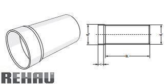 Rehau для внутр. канализации Патрубок для металевого сифону RAUPIANO PLUS прямий 75/80