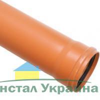 Мпласт Труба пвх для наружной канализации D= 160 Длина, мм =4000