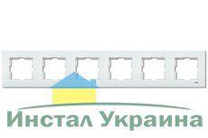 VIKO KARRE белый рамка 6 местная горизонтальная