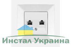 VIKO MERIDIAN белый розетка Телефонная двойная евростандарт (2хCAT3)