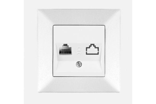 VIKO MERIDIAN белый розетка компьютерная (CAT5)