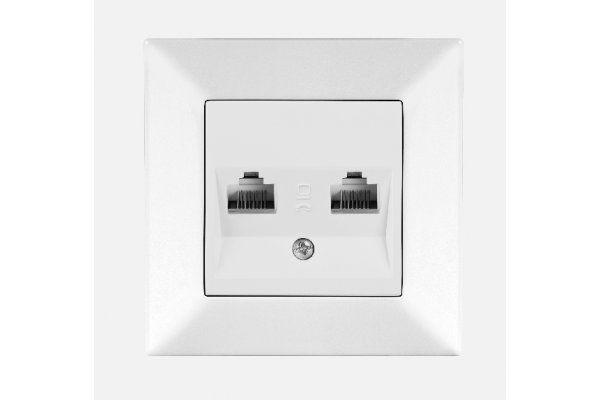 VIKO MERIDIAN крем розетка компьютерная двойная (2хCAT5)